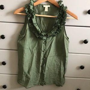 J. Crew Silk sleeveless blouse